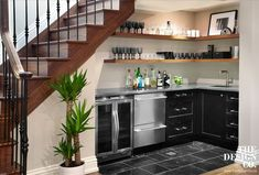 Appealing Kitchen Design With Basement Stairs Basement Bar Under Stairs Prepossessing Kitchen Decoration Bar Under Stairs, Kitchen Under Stairs, Space Under Stairs, Under Staircase Ideas, Open Stairs, Wet Bar Basement, Basement Bar Designs, Basement Stairs, Basement Ideas