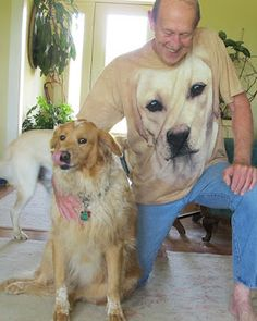 Talking Dogs at For Love of a Dog: Wordless Wednesday: Dog Daddy Father's Day. Amazing 3 D dog breed tshirts at Pet Flow! I Said Yes, Dog Stories, Dog Safety, Photo Story, Dog Breeds, 3 D, Labrador Retriever, Daddy, Cute Animals