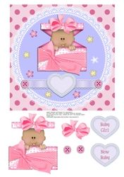 BABY GIRL TOPPER WITH HEARTS