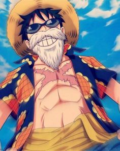 Monkey D. Luffy with beard One piece