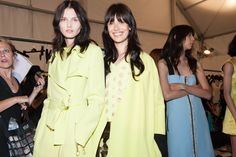 Lime green looks at Fausto Puglisi Spring 2015