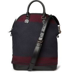 Burberry Prorsum Leather-Trimmed Wool Bag | MR PORTER
