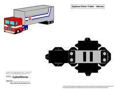 My Custom Cubeecraft / Papercraft Cutout template of Optimus Prime 'Version from Transformers: Prime. (All My Custom Fan Art Cubeecraft Templates are. Transformer Halloween Costume, Transformer Birthday, Paper Model Car, Paper Models, Paper Folding Crafts, Paper Crafts, Dice Template, Templates, Transformers Birthday Parties