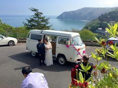 VW Westfalia Camper 'Ernie' at Lynton wedding. Devon Holidays, Vw Camper, Weddings, Wedding, Marriage
