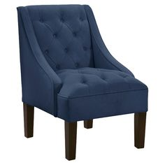 small chairs for bedroom. Diamond tufted accent chair in royal with foam cushioning  Handmade the USA small bedroom chairs Pinterest Small