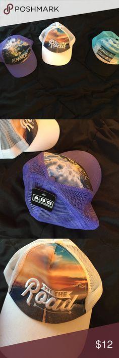 Three mesh hats all brand new Three summer printed mesh hats all brand new! Accessories Hats