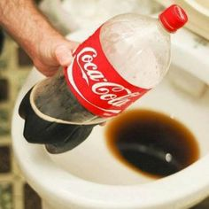 clean toilet with coke | Check out this cool way to clean your toilet bowl. Grab a coke and a ...