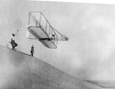 The Wright Brothers Orville (was 32 ) & Wilbur (was 36) when they invented & built the world's first successful airplane & making the first controlled, powered & sustained heavier-than-air human flight