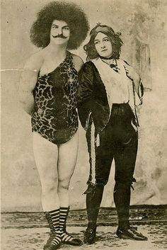 Vintage Circus People Photo