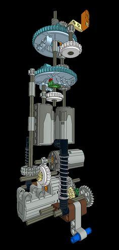 #Lego Gear Mechanism