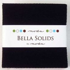 "Bella Solids Blacks Moda Charm Pack By Moda Fabrics; 42 - 5"" Quilt Squares"