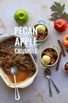 Fruit Recipes, Quick Recipes, Apple Recipes, Peach Crumble, Recipe Cover, Breakfast Recipes, Breakfast Ideas, Healthy Fruits, Perfect Food