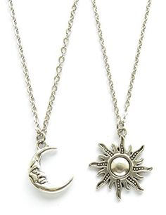 Crescent Moon and Sun Friendship Pendant Necklace BFF Jewelry Necklaces wishsup http://www.amazon.com/dp/B00Y7ILQN6/ref=cm_sw_r_pi_dp_xk.Pvb0RYH4J5