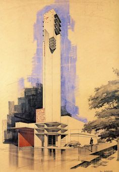 Information and Tourist Pavilion - Robert Mallet-Stevens -   Paris Exposition - 1925