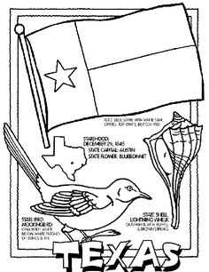 Texas State Symbol Coloring Page by Crayola. Print or color online.