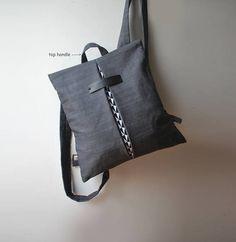 Design Zaino Messenger Borsa impermeabile marrone tela