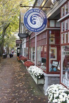 Shops on Nantucket Island, Massachusetts