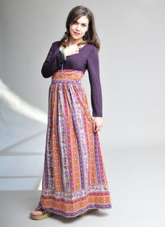 Boho / Hippie Chic Long Maxi Dress by funkhouse