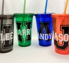 Acrylic Tumbler, personalized double wall tumbler, Acrylic cup, custom sport theme, Cup with straw, gifts for boys, coach gifts, Sport fonts