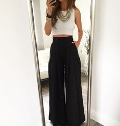 19 Cheap Palazzo Pants You Must Buy - Fashion Outfit IdeasBlack I just adore this pair of palazzo pants. This palazzo pants go well with all my tops and blouses and shirts. Best List of amazing list of Palazzo Pants Outfit for Work, Palazzo Pants Outfit, High Waisted Palazzo Pants, Black Palazzo Pants, Harem Pants, Mode Outfits, Casual Outfits, Fashion Outfits, Womens Fashion, Summer Pants Outfits