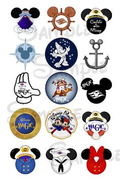 Various DCL Magic inspired DIGITAL Bottle Cap by SwirlyColorPixels
