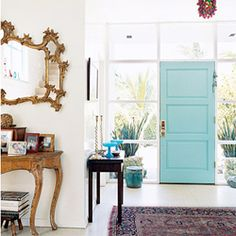 If you were to to use the colour *turquoise* at home, how would you do it? (via thedecodetective)