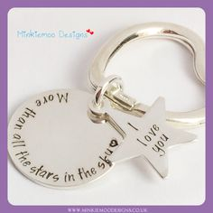 Sterling silver keyring available at www.minkiemoodesigns.co.uk