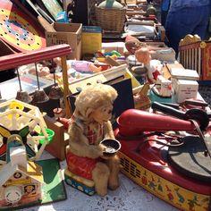 Flea market treasure of old toys