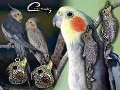 Coleção Aves Preciosas  Colar Calopsita