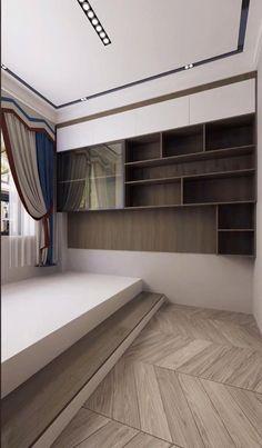 Small Room Design Bedroom, Small Bedroom Interior, Small House Interior Design, Bedroom Furniture Design, Modern Bedroom Design, Home Room Design, Apartment Interior, Modern House Design, Small Bedroom Designs