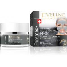EVELINE FACEMED+ čistící maska s aktivním uhlím 50ml