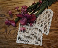 Square and Heart Shaped Doilies in Filet by MarLinsKraftyKorner, $9.95
