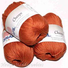 Cheope Rost von Adriafil - Heikes Handgewebtes edel feine 100 % ägyptische Baumwolle für höchste Ansprüche. noble fine 100% Egyptian cotton for high performance. 50g = 135 m LL