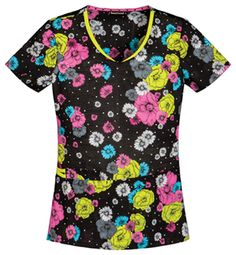 V-Neck Top in Flower Me With Love