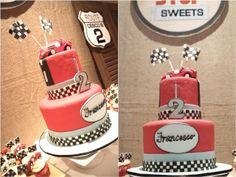 Francesco's Vintage Race Car Themed Birthday: Cake