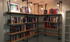 DIY: Lighted Pipe Shelving | Doing It Yourself isn't always the easiest or cheapest option, but odds are you won't find anything more satisfying than finishing a DIY project with your own two hands. Each week, we're going to s...