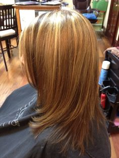 Long layers with natural brown's & blonde.