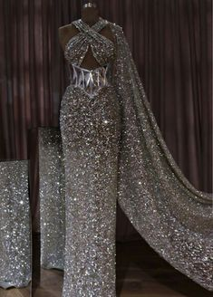 Dress to Impress! Silver or Gold? The choice is yours _ Dress Designer Lena Berisha # Gala Dresses, Event Dresses, Red Carpet Dresses, Formal Dresses, Wedding Dresses, Pretty Dresses, Sexy Dresses, Fashion Dresses, Mode Glamour