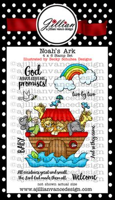 Noah's Ark, Christian Stamps, Christian, Baby, Noah, Ark, Two by Two, God's Promises, God, Promise, coloring, watercolor,