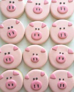 Genial idea para aperitivo de una fiesta de cumpleaños de Peppa Pig. #Peppapig #fiestadecumpleaños