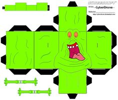My Custom Fan Art Cubeecrafts Cutout templates from The Real Ghostbusters and Ghostbusters Movies. Ghostbusters (c) Columbia Pictures Television, DiC Entertainment