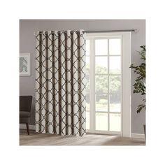 Madison Park Saratoga Fretwork Print Patio Window Curtain (£31) ❤ Liked On  Polyvore
