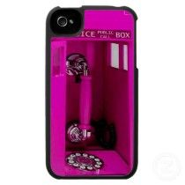 Funny girly Police call box in Pink! Iphone 4 Cases by _Angelique_