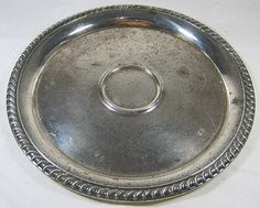 Vintage SILVER PLATE Serving TRAY Tarnish by LavenderGardenCottage etsy