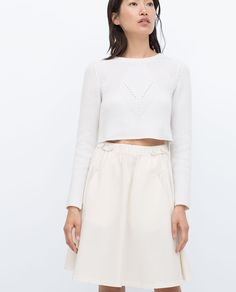 SKIRT WITH ELASTIC WAIST - View all - Skirts - WOMAN | ZARA United Kingdom