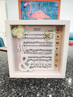Excited to share the latest addition to my #etsy shop: Personalised Wedding Music Sheet Frame
