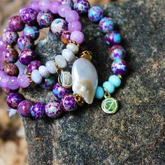 #anythingpurple #jasper #handmadejewelry #purplelovers #armcandy #stacks #bracelets #naturalstones #pearls #wholesale #jewelry #fun #mustsee #boho #bohochic #accessoryqueen #fashionista #potd #bohoaccessories