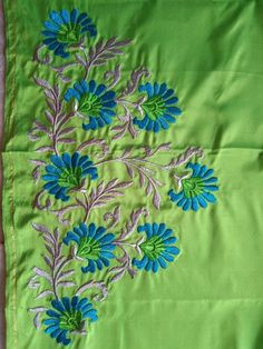 Indian Embroidery Designs, Embroidery Designs Free Download, Diy Embroidery Patterns, Etsy Embroidery, Embroidery Suits Design, Couture Embroidery, Embroidery Works, Machine Embroidery Designs, Embroidery Stitches