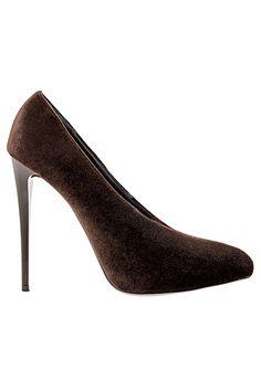 Emporio Armani Dark Brown Stiletto Pumps Fall Winter 2013 #Shoes #Heels