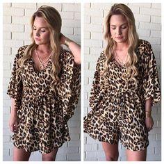 Women's Leopard Romper